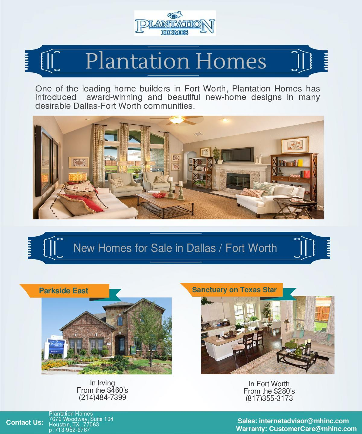 New homes dallas fort worth plantation home builders in for Plantation home builders